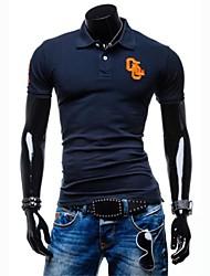 casual / werk pure korte mouwen de gebruikelijke T-shirts voor mannen (katoen)