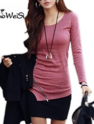 NUO WEI SI®  Women's Round Neck Loose Fit  T-Shirt