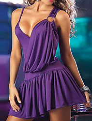 Elegant Lady Low-cut Spandex Nightclub Uniform