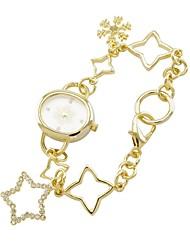 Relógio em Chaveiro - Mulher - Quartzo - Analógico - Flor