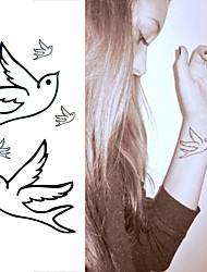 Pigeon Peace-Loving Tattoo Stickers Temporary Tattoos(1 Pc)