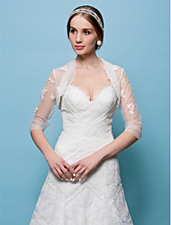 Wedding  Wraps Boleros Tulle White/Beige Bolero Shrug