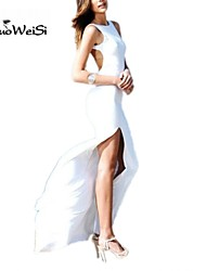 Nuo wei si ® Women's Sexy Backless Solid Color Bodycon Maxi Dress
