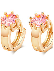 Women's Fashion 18K Gold Plating Inlay Zircon Earrings