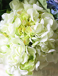 Luxury Large Light Green Hyfrangeas Artificial Flowers
