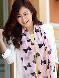Lady's Cute Ribbon Chiffon Scarf Shawls(Assorted Color)