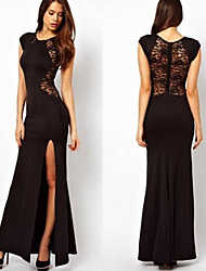 LEO     Women's Black Dresses , Casual Sleeveless