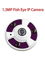 1.3MP 180 ° Fisheye Panoramic Ip Camera  3-IR-LED   Support Split Screen