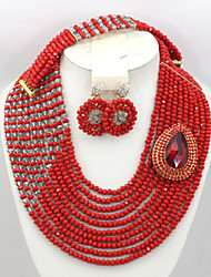 African Wedding Beads Jewelry Set African Beads Crystal Jewelry Set