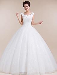 Vestido de Noiva Trapézio Coração Comprido ( Tule )