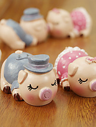 Cake Toppers Cake Topper Hearts Couple Pigs Kiss Non-Toxic Resin