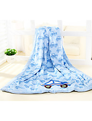 76*110 100% Polyester Blue Car Super Soft Velboa Blanket/Throw , Cozy, Soft And Stay Warm