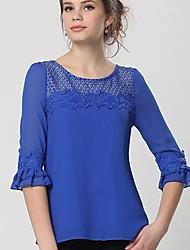 Women's Round Collar Slim Pullover Shirts