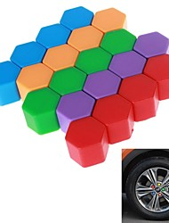 21# Hexagonal Nut Silicon Material Design Car Wheel Hub Screw Decoration Cover (20PCS/24mm)