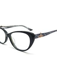 [lentes livres] acetato de gato-olho full-jante óculos de grau retro das mulheres
