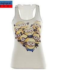 cmfc®women's afdrukken vest sexy bodycon pullover vest hemd ongedwongen all-wedstrijd t-shirt top kleding