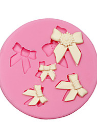 Cake Decorating Bow Silicone Fondant Mould For Candy Crafts Jewelry Chocolate PMC Resin Clay