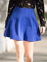 ocasional médio micro-elástica bonito das veri gude® mulheres acima de moda joelho saias uma linha (spandex / poliéster)