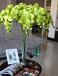 """40"""" Long Fabric Butterfly Ochird Set of 10 Green Color"""