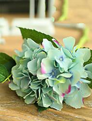 Two Large Green Blue Hyfrangeas Artifical Flowers