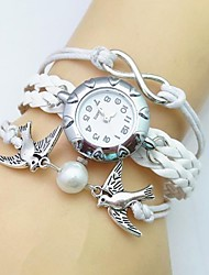 Fashion Handmade Women's Watch Beaded Critters Dove Infinity Leather Weave Band Cool Watches Unique Watches