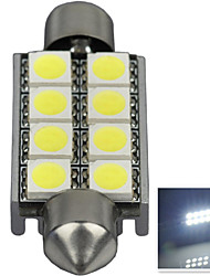 2.9W 12V 7000-8000K 42MM-5050-8SMD C5W with Radiator Canbus License Plate And Tail Box Lighting LED Light for Car