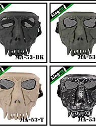 MA-53 Thorn Ling Desert Corps Tactical Airsoft Safety Full Face Mask V2(Round Mesh)