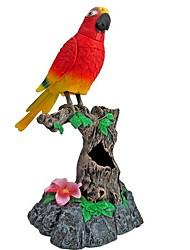 aprender a falar o pássaro gravação de voz simulação de sensores toys_ vermelho + preto
