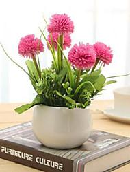 hyfrangeas rosa artificial flores com vaso