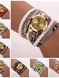 Women's Leopard Grain Woven Luxury Brand Strap Watch Quartz Wristwatch Watches C&D-120 Cool Watches Unique Watches Fashion Watch