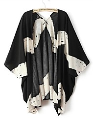Women's Fashion Leisure Printed Cardigan Coat