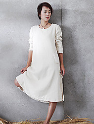 The new spring and summer 2015 contracted dress Loose linen dress Factory direct sale