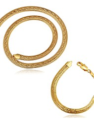 Gold Plated 10mm Round Fashion Jewelry Sets Necklace bracelet