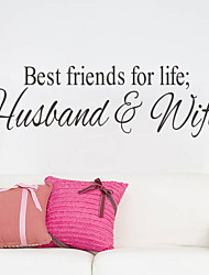 Wall Stickers Wall Decals, Best Friends English Words & Quotes PVC Wall Stickers
