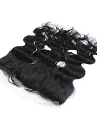 """1pcs / lot 12inch 13 """"x4"""" brésiliens vierges vague de corps de fermeture de cheveux de dentelle de cheveux humains frontale fermeture"""