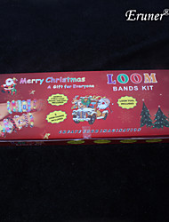 BaoGuang®New Christmas Fashion Loom Set (600pcs Rubber Bands,1 Package Clips , 1 Hook,1 Looms,1Instructions)