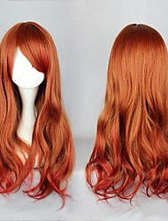 Fashion Red Waves Without Capacitance High Quality Synthetic Hair