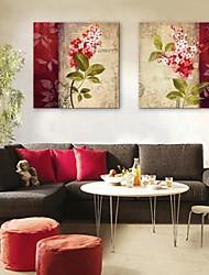 E-Home® Leinwand Kunstblume dekorativen Malerei Satz 2