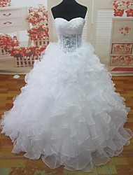 A-line Court Train Wedding Dress -Sweetheart Lace