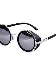 Mirrored Round Alloy Retro Sunglasses