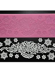 quatre c mat pad de dentelle fournitures d'artisanat de sucre de silicone de la décoration pour la cuisson, le silicone mat fondant outils