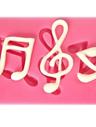 Musical Note Shaped  Fondant Cake Chocolate Silicone Mold,Cupcake Decoration Tools,L6cm*W4.3cm*H0.7cm