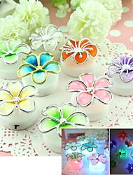 Adesivos de parede adesivos de parede 3d, 8pcs flores nocturna cintilante coloridos adesivos de parede cor aleatória (baterias incluídas)