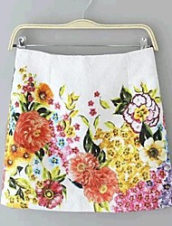 Women's Fashion Sweet Print Slim Skirts