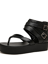 Women's Shoes Calf Hair Low Heel Gladiator Sandals Casual