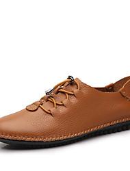 Мужские оксфорды осень зима формальная обувь наппа кожа открытый офис&Карьера участника&Вечерний случайный большой размер