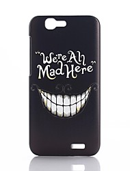 White Teeth Laughing Pattern PC Hard Back Cover Case for Huawei Ascend G7