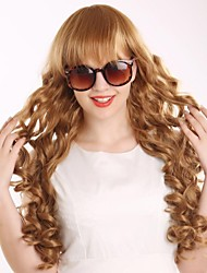 The New COS Long Curly Wig Euramerican Fashion Golden Hair