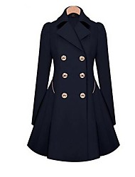 Women's Fashion Double Buttons OL Trench Coat More Colors