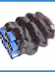 "Cheap Brazilian Human Hair Mixed 16""16""18""18""20""20""/lot 6pcs/lot Grade 4A Color 1B"